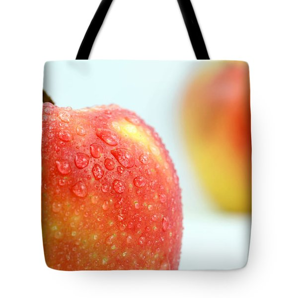 Two Red Gala Apples Tote Bag by Paul Ge