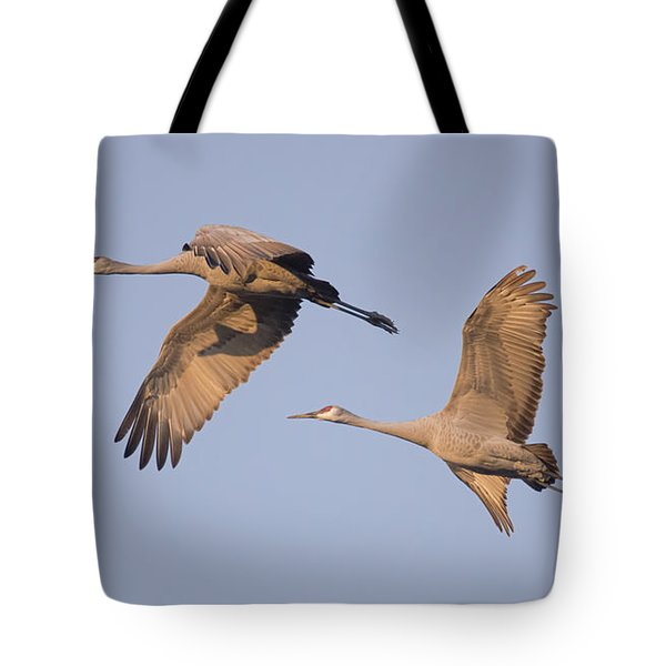 Tote Bag featuring the photograph Two Together by Wanda Krack