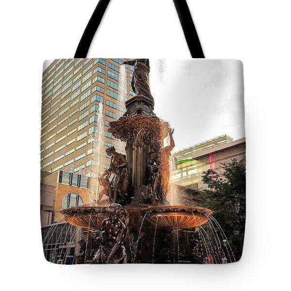 Tyler Davidson Fountain Tote Bag by Keith Allen