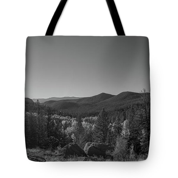 Tyndall Creek In The Rocky Mountains Bw  Tote Bag