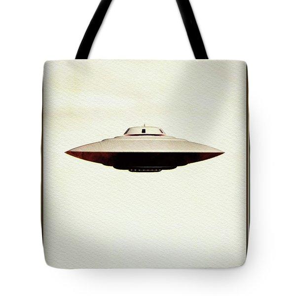 Ufo Skyline Tote Bag