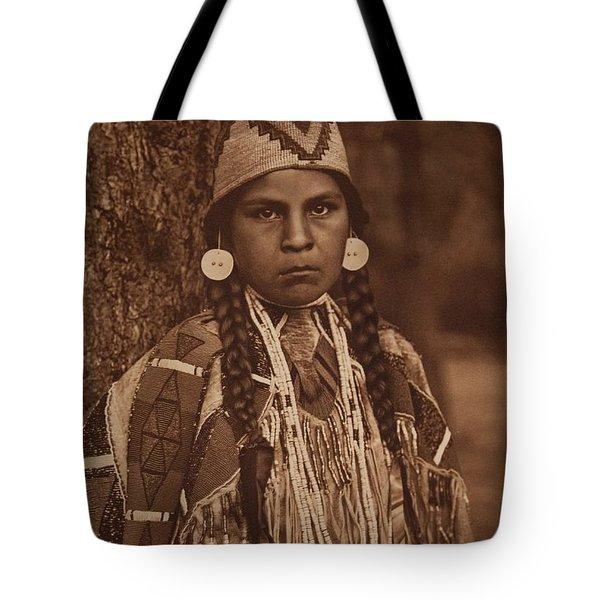 Umatilla Maid , Native American By Edward Sheriff Curtis, 1868 - 1952 Tote Bag