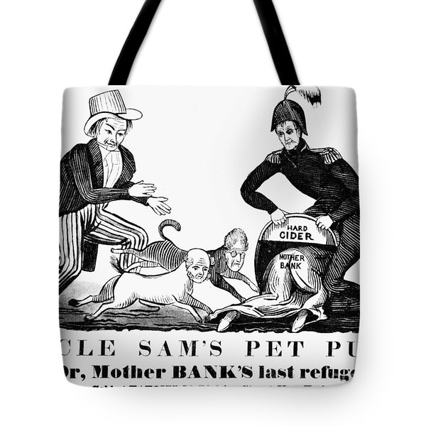 Uncle Sam Cartoon, 1840 Tote Bag by Granger