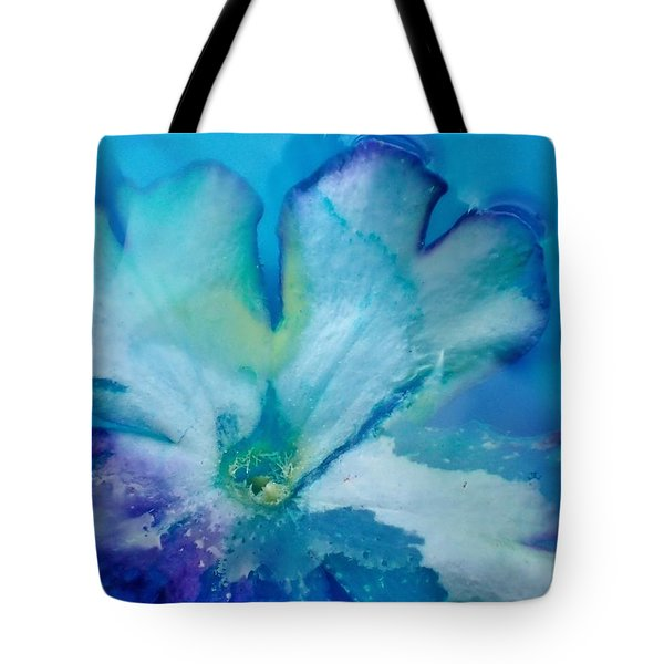Underwater Flower Abstraction 7 Tote Bag by Lorella Schoales