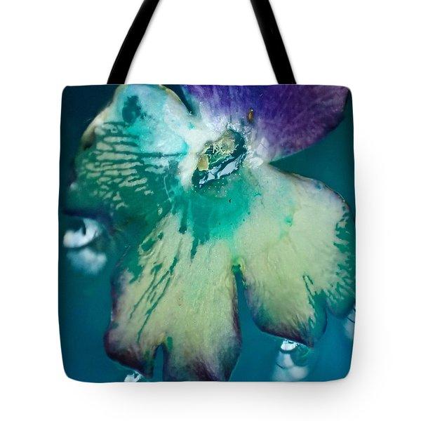 Underwaterflower Abstraction 6 Tote Bag by Lorella Schoales
