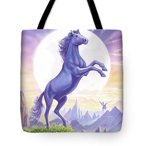 Unicorn Moon Ravens Tote Bag by Steve Crisp
