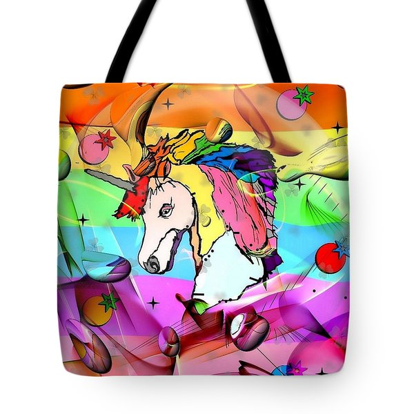 Unicorn Popart By Nico Bielow Tote Bag by Nico Bielow