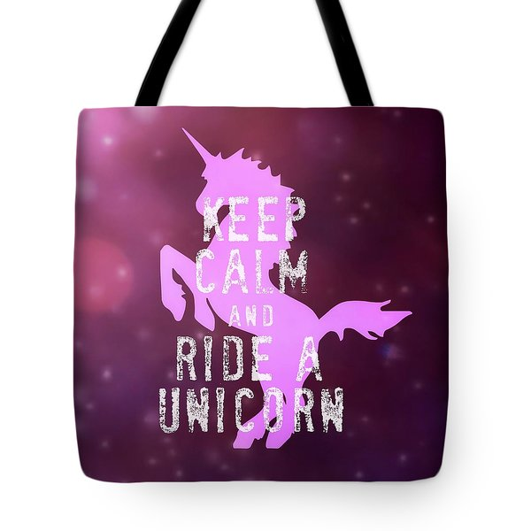 Unicorn Riding Tote Bag