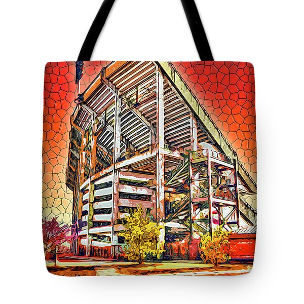 University Of Maryland - Byrd Stadium Tote Bag by Stephen Younts