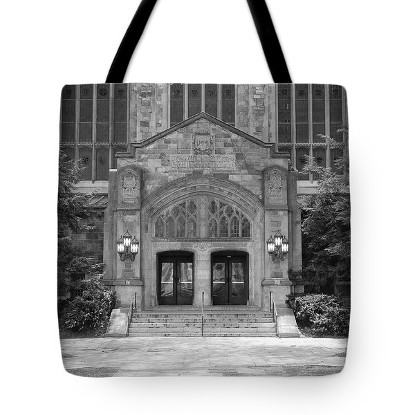 University Of Michigan Law Quad Tote Bag by Phil Perkins