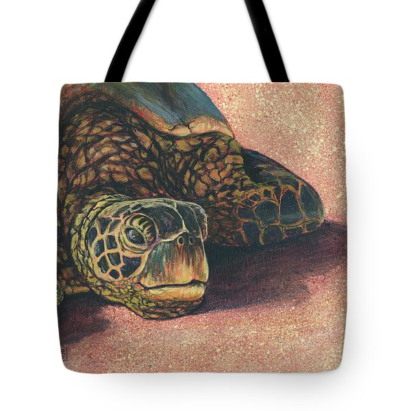 Tote Bag featuring the painting Honu At Rest by Darice Machel McGuire