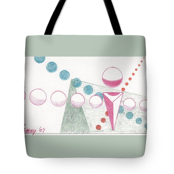 Tote Bag featuring the drawing Still Motion by Rod Ismay