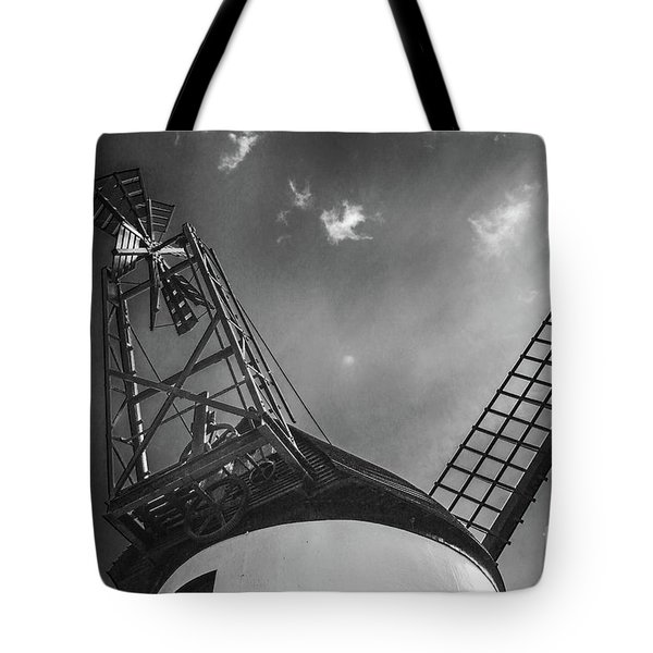 Unusual View Of Windmill - St Annes - England Tote Bag