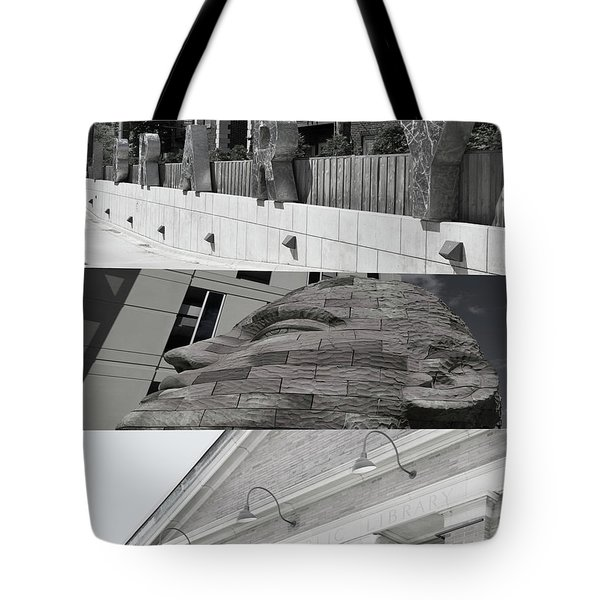 Tote Bag featuring the photograph Uptown Library by Susan Stone