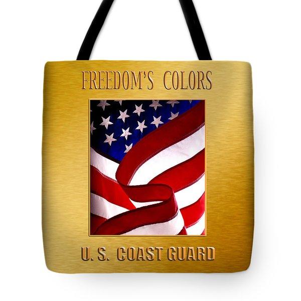U.s. Coast Guard Gold Tote Bag