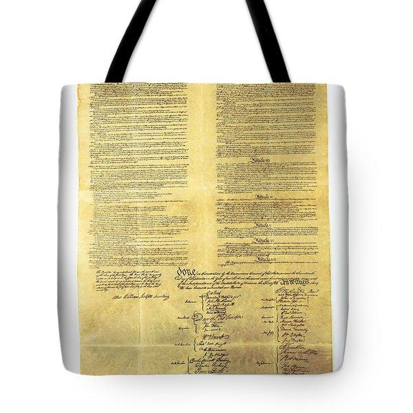 U.s Constitution Tote Bag