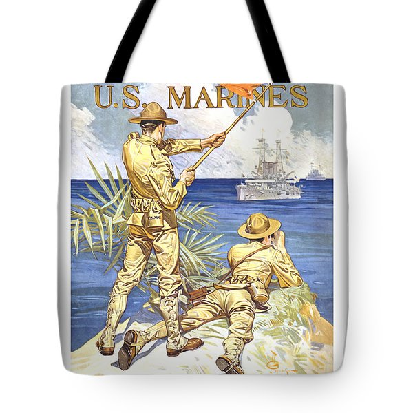 Us Marines - Ww1 Tote Bag