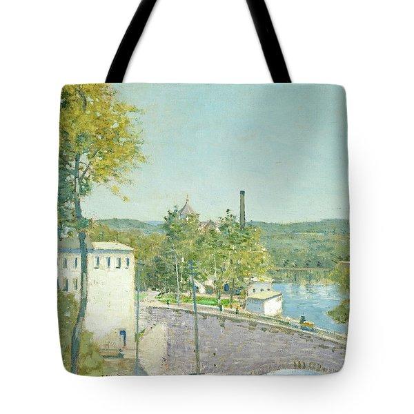 U.s. Thread Company Mills, Willimantic, Connecticut Tote Bag