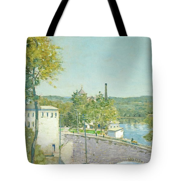 U.s. Thread Company Mills, Willimantic, Connecticut Tote Bag
