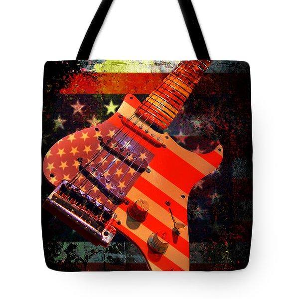 Usa Strat Guitar Music Tote Bag