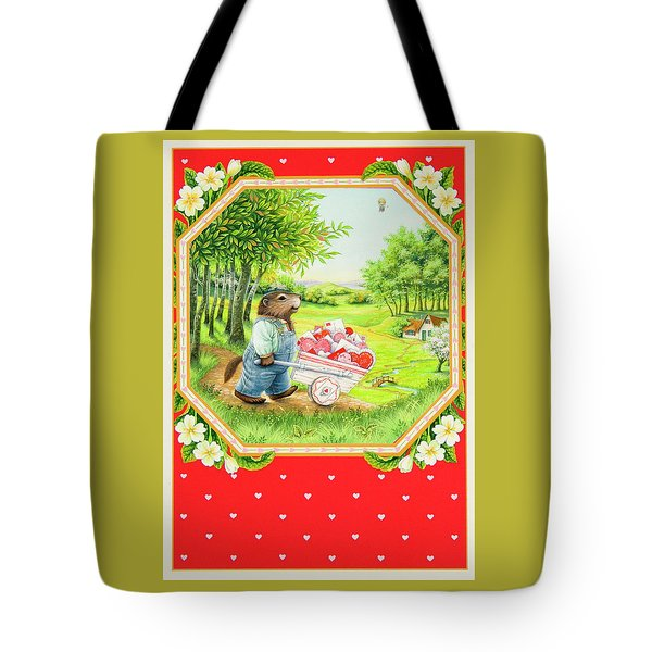 Valentine Delivery Tote Bag by Lynn Bywaters