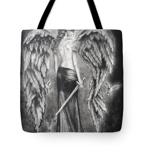 Valkyrie Angel Tote Bag by Carla Carson