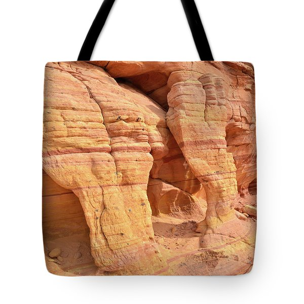 Tote Bag featuring the photograph Valley Of Fire Wall Arches by Ray Mathis