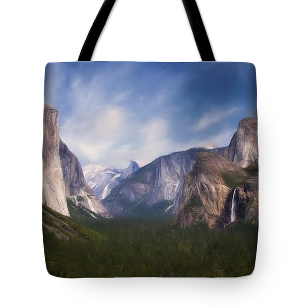 Tote Bag featuring the photograph Valley View by Lana Trussell