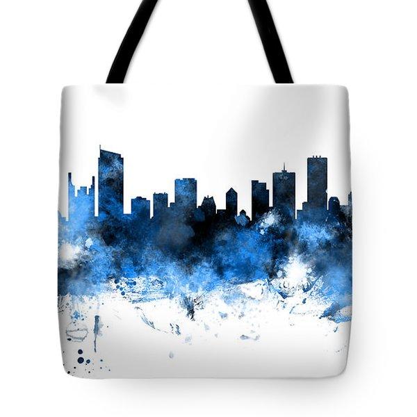 Vancouver Canada Skyline Panoramic Tote Bag