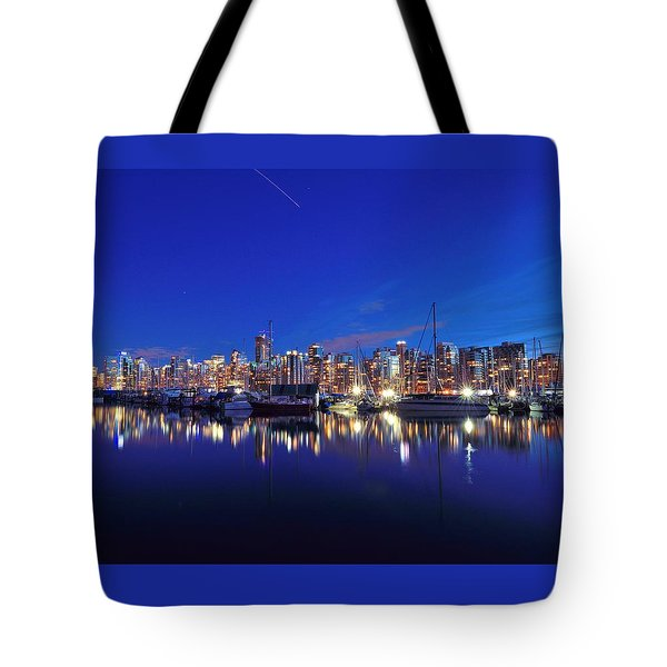 Tote Bag featuring the photograph Vancouver Skyline by Kathy King