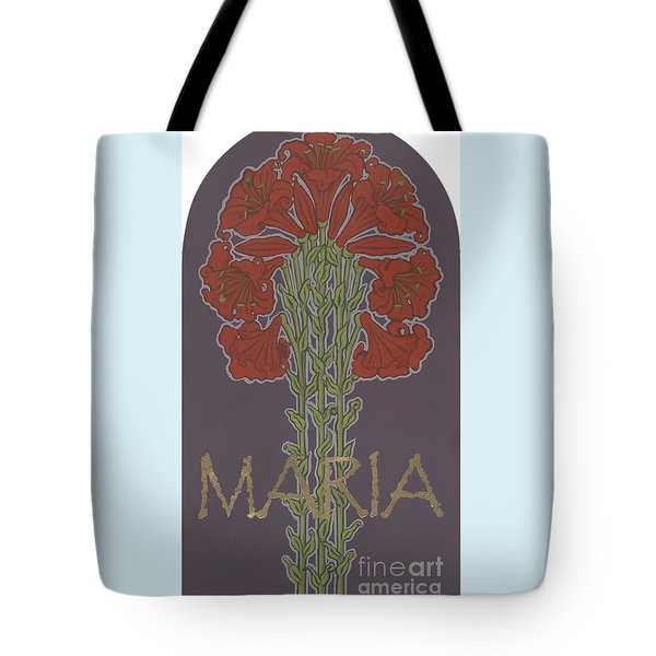 Tote Bag featuring the painting Variation On Our Lady Of Sorrows 236 by William Hart McNichols