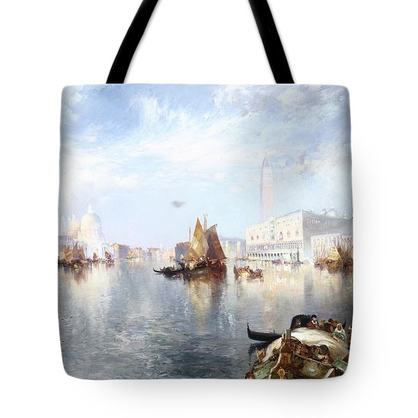 Venetian Grand Canal Tote Bag by Thomas Moran