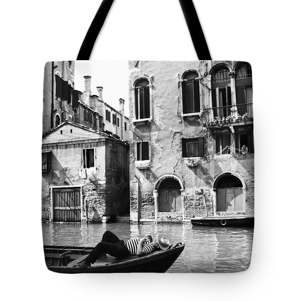 Tote Bag featuring the photograph Venice Canal, 1969 by Granger