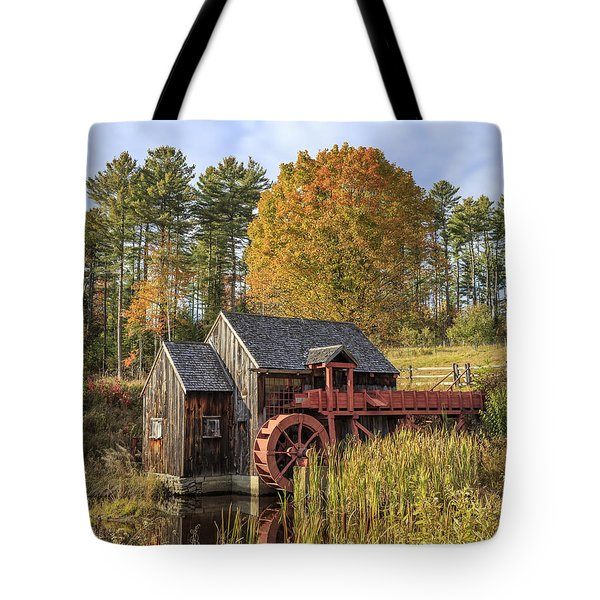 Tote Bag featuring the photograph Vermont Grist Mill by Edward Fielding