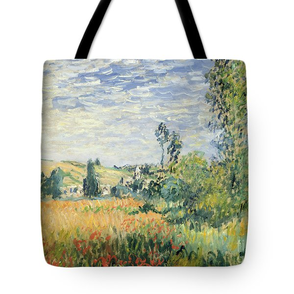 Vetheuil Tote Bag by Claude Monet