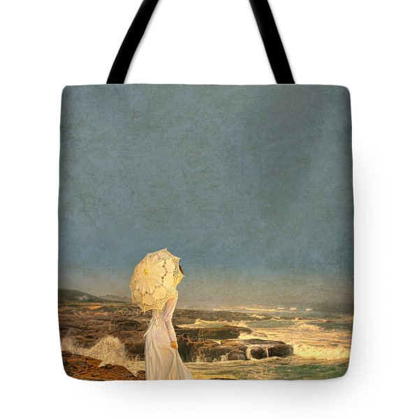 Victorian Lady By The Sea Tote Bag by Jill Battaglia