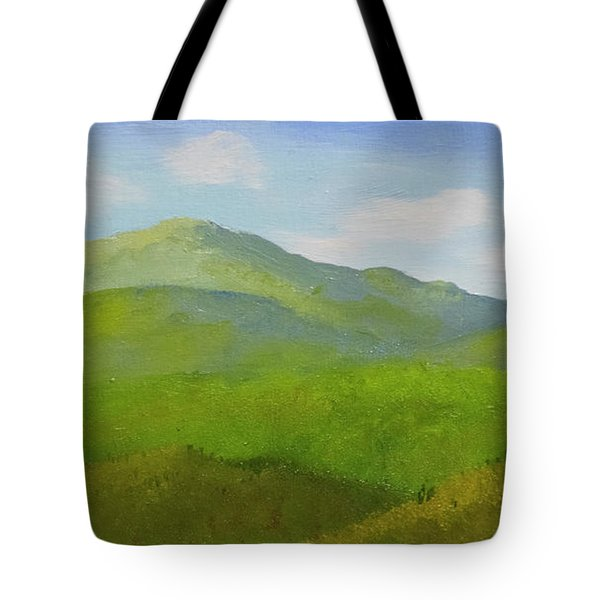 Tote Bag featuring the painting View From The Bluffs by Frank Wilson