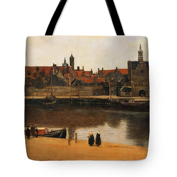 View Of Delft Tote Bag by Jan Vermeer