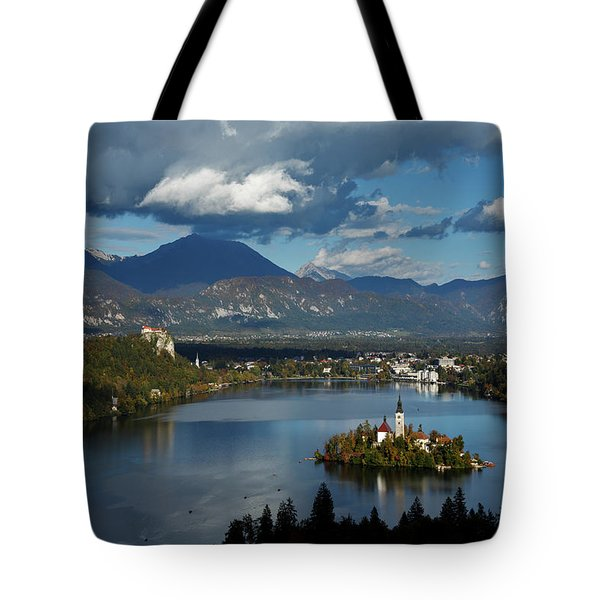 View Of Lake Bled From Ojstrica Tote Bag