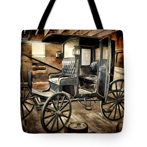 Vintage Horse Drawn Carriage  Tote Bag by Judy Palkimas
