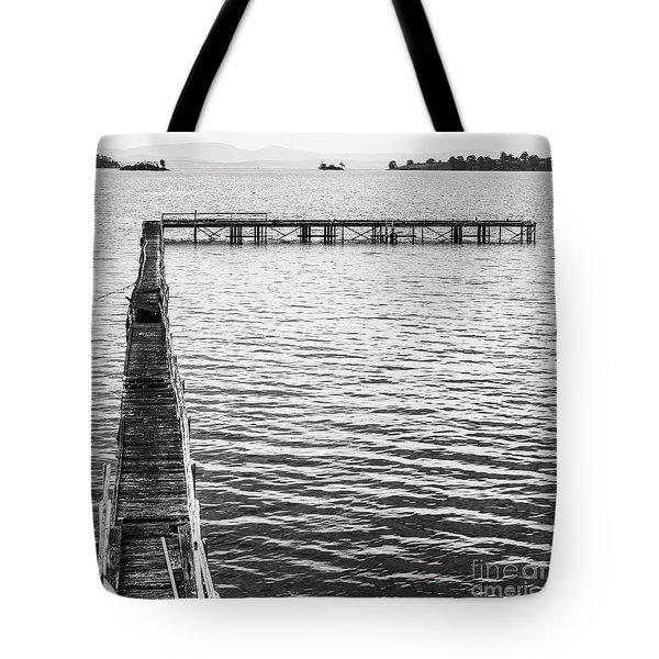 Vintage Marine Scene Tote Bag