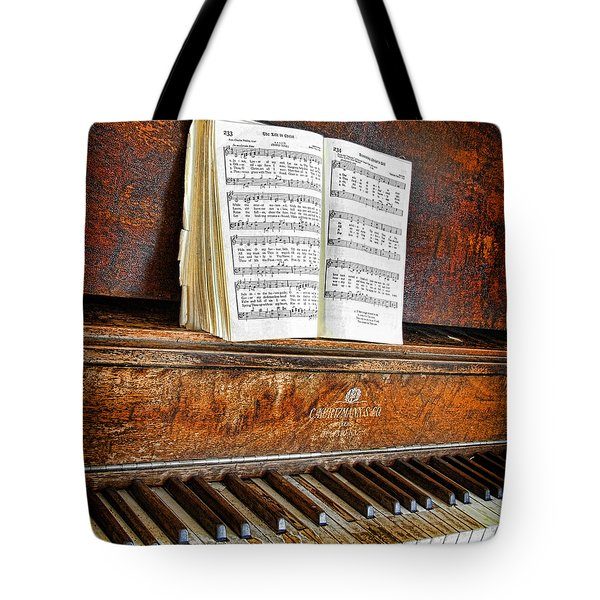 Vintage Piano Tote Bag