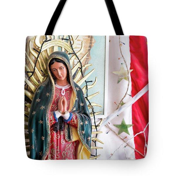 Virgin Mary Shrine Tote Bag