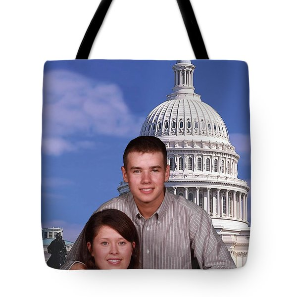 Tote Bag featuring the photograph Visiting The Capitol by Robert Hebert