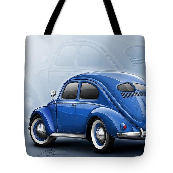 Volkswagen Beetle Vw 1948 Blue Tote Bag