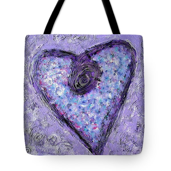 Vortex Heart Tote Bag