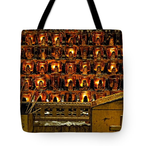 Votive Candles Tote Bag by John Greim