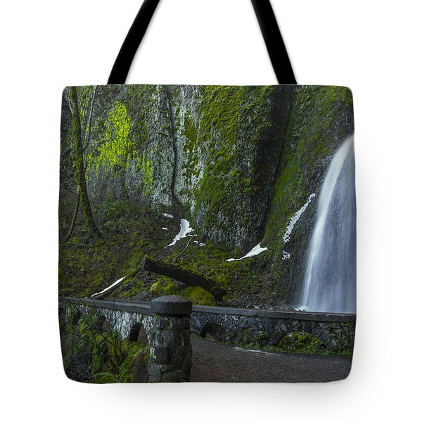Wahkeena Falls Bridge Signed Tote Bag