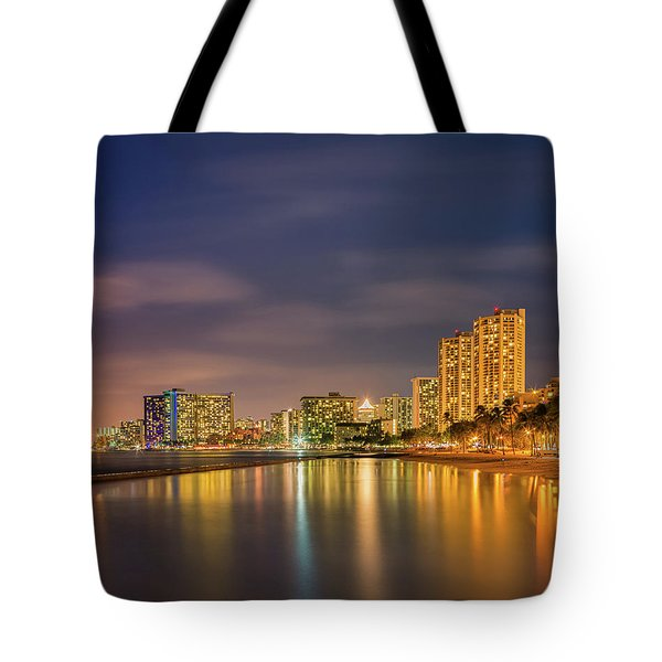 Waikiki Beach - Honolulu Tote Bag