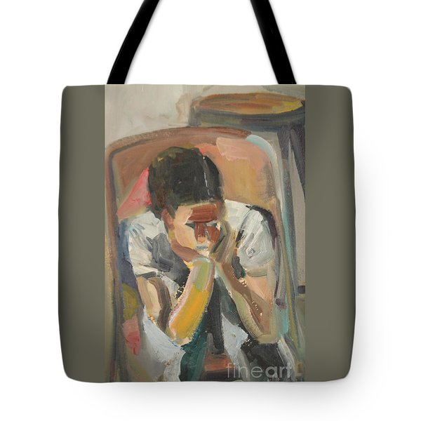 Wait Child Tote Bag by Daun Soden-Greene